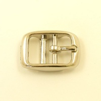 Cavesson Double Bar Buckle Nickel Plated 16mm